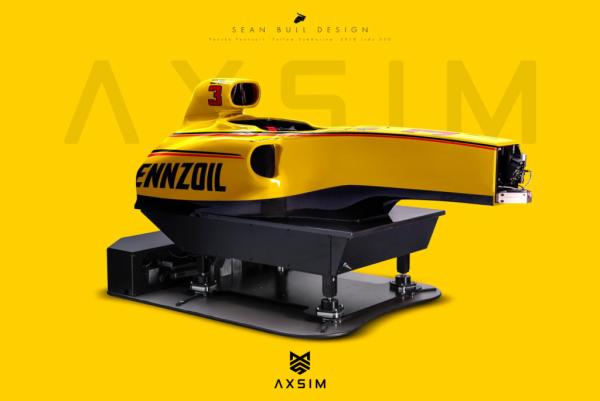 AXSIM Formula Simulator Penske Yellow Submarine x