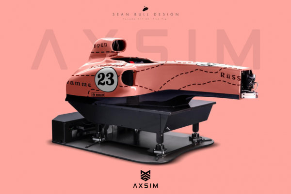 AXSIM Formula Simulator Pink Pig x